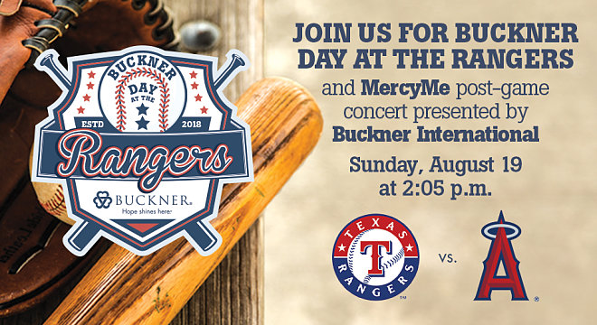 Buckner Day at the Rangers with Post-Game MercyMe Concert