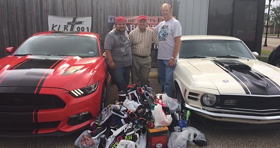 Beaumont Buckner Shoes for Orphan Souls® drive sets local record