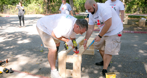 Friday photo: Aramark employees revitalize Buckner Family Hope Center