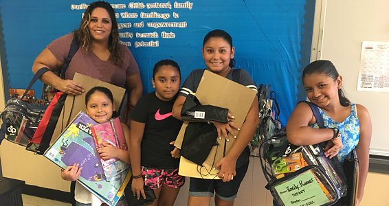 Buckner provides children in Aldine, Conroe with school supplies