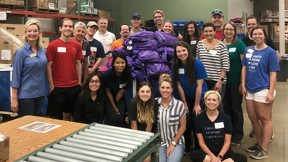 brinks delivers backpacks to buckner
