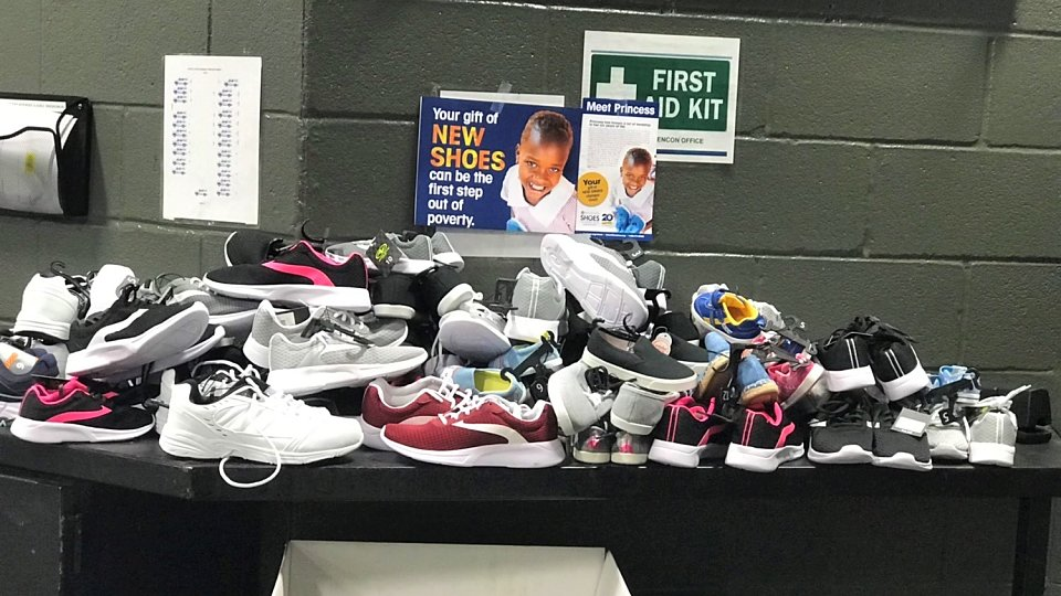 brinks locations collected new shoes for vulnerable children