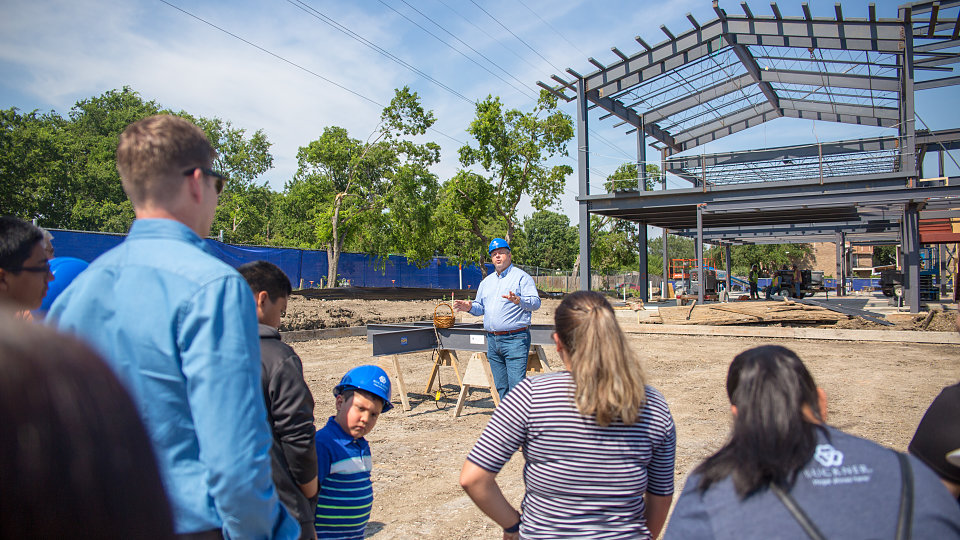 buckner family hope center at bachman lake celebrates construction
