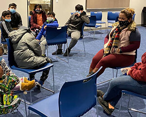 buckner family hope center at bachman lake opens warming center