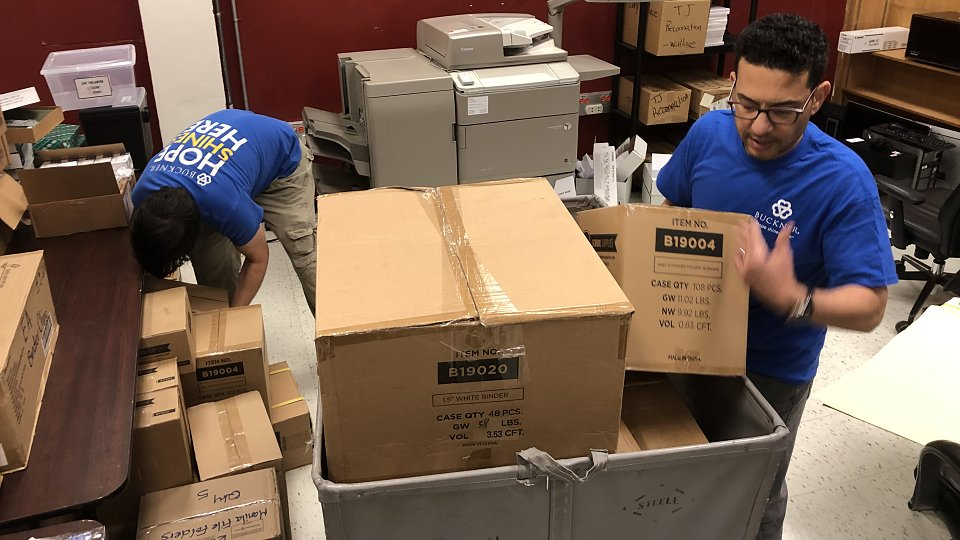buckner international delivers supplies for students displaced by storms