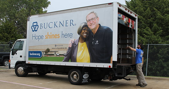 Buckner delivers school supplies for displaced students due to the Dallas tornadoes