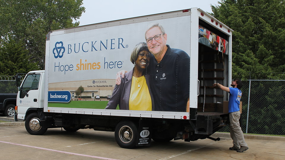 buckner international packs supplies to dallas schools
