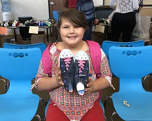 buckner shoes for orphan souls provided shoes for houston kids going back to school
