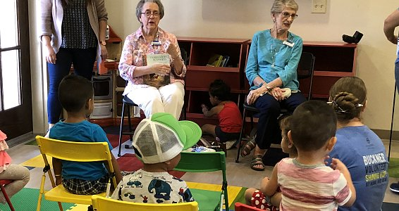 Buckner Westminster Place member and author reads to children on National Read a Book Day