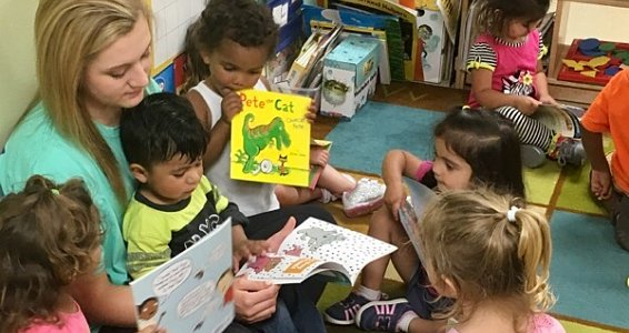 Buckner Lufkin volunteer instills joy of reading in children