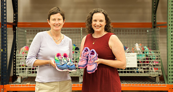 Friday photo: City Credit Union hosts shoe drive