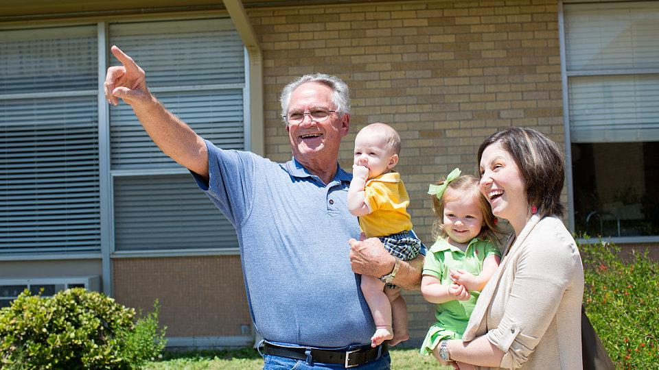 senior man with grandchildren