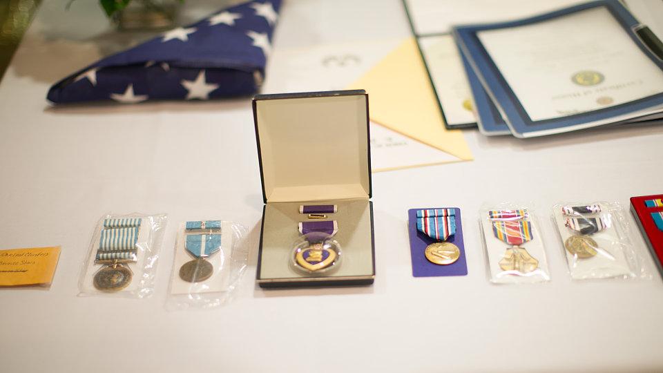 war medals.