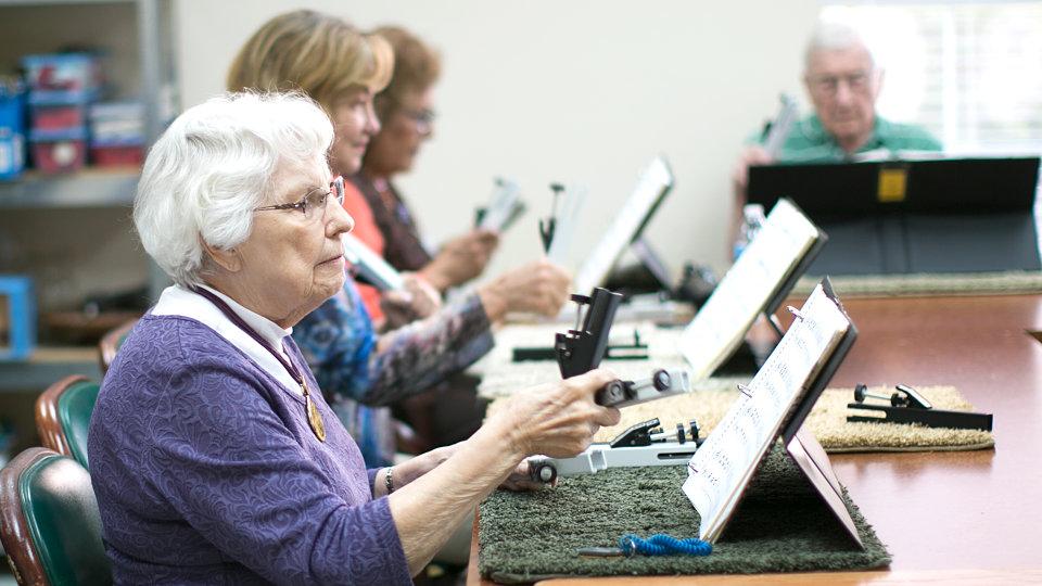 seniors playing music