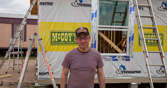 Friday photo: British man travels more than 5,000 miles to build home for family through Buckner