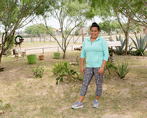 elizabeth mendez gained confidence through buckner family hope center programming