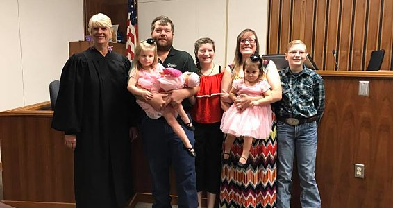 Friday photo: Midland celebrates three families adopting last week