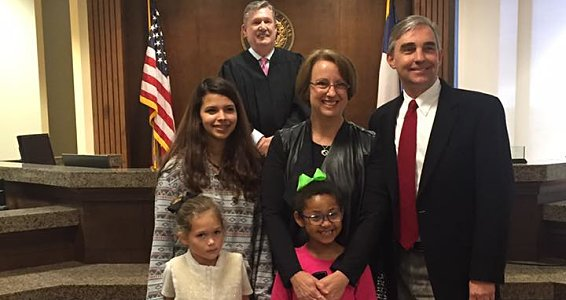 Joy fills Midland courthouse as 10 children are adopted
