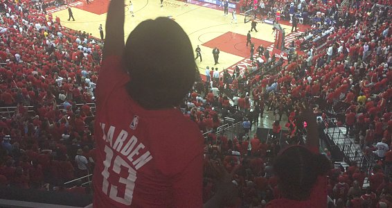 Family Pathways graduates celebrate by going to Houston Rockets conference finals game