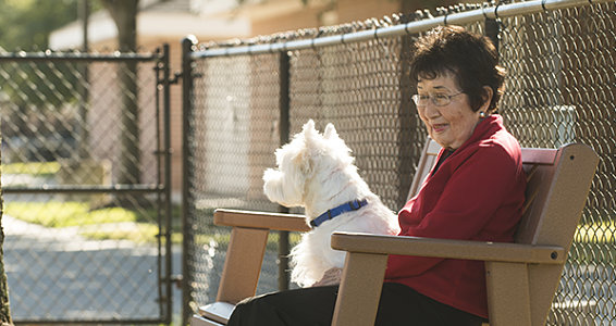 Seniors celebrate National Pet Month