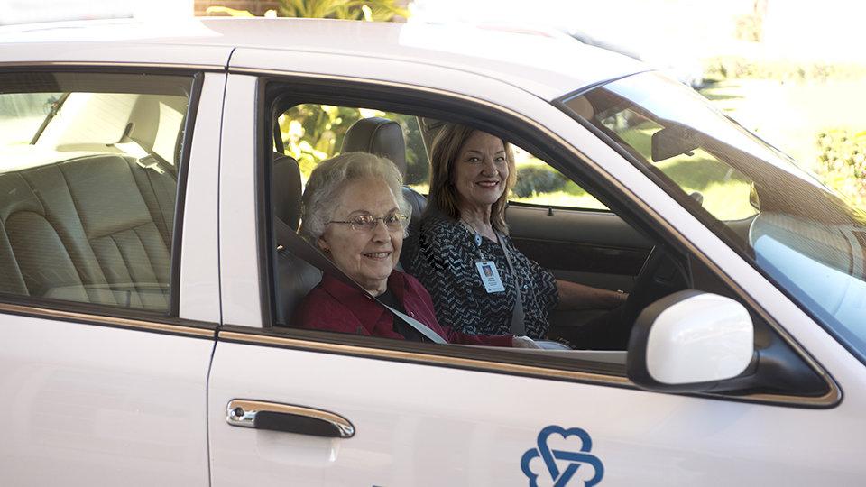 driving a senior
