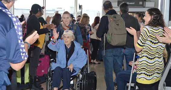 Two Buckner Villas residents attend All Women Honor Flight