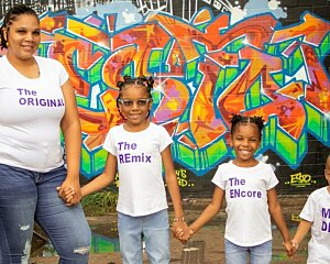 kiara phillips and her children participate in the buckner family pathways program