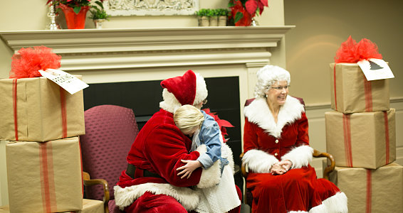 Friday photo: Santa visits with Lubbock foster and adoptive children