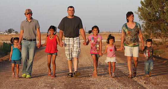 Adoptive Family Blossoms in the Desert