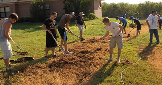 Prayer Garden Project Breaks Ground