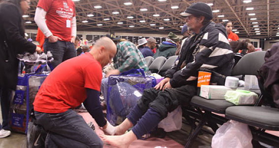 Buckner Provides 4,500 Pairs of Shoes to Dallas Homeless and Vulnerable Families
