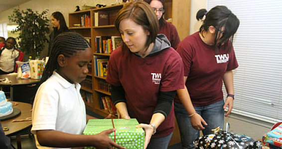 Nursing Students Bring a Dose of Holiday Fun to Buckner Afterschool Programs
