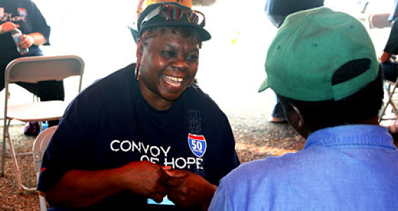 Buckner Provides Shoes at Convoy of Hope Outreach Event in South Dallas