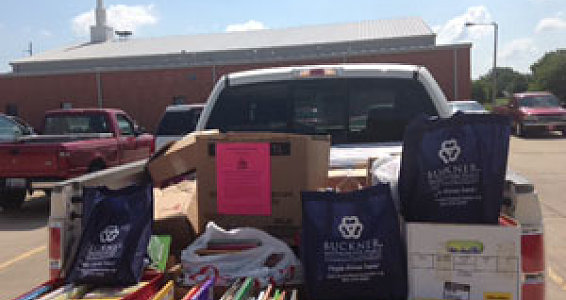 Westminster Place residents collect books for children in Moore, Okla.
