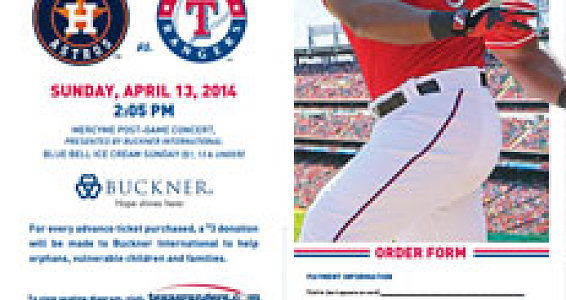 Join us April 13 for Buckner Day at the Rangers