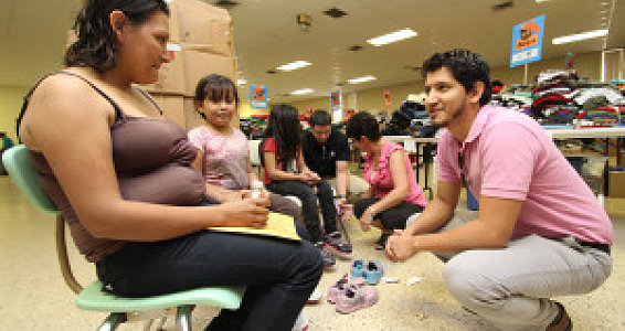 Buckner shoes offer respite for weary immigrant children