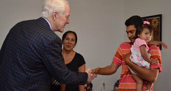 Sen. Cornyn visits Family Hope Center