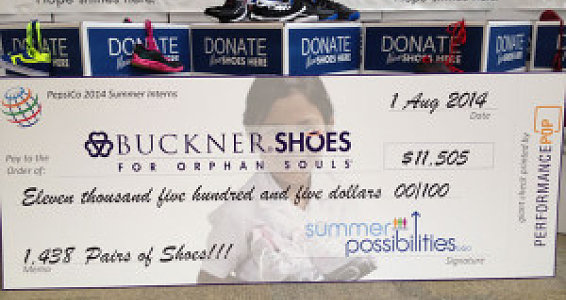 PepsiCo partners with Buckner to collect 1,438 pairs of shoes for vulnerable children worldwide
