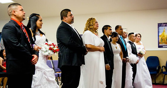 'Til death do us part' | Rio Grande Valley families wed in mass wedding ceremony