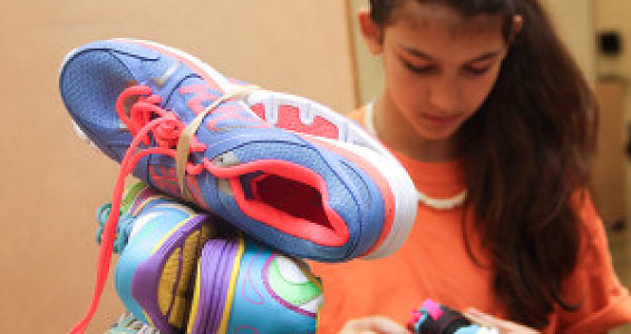 Global-minded teens give time for shoes