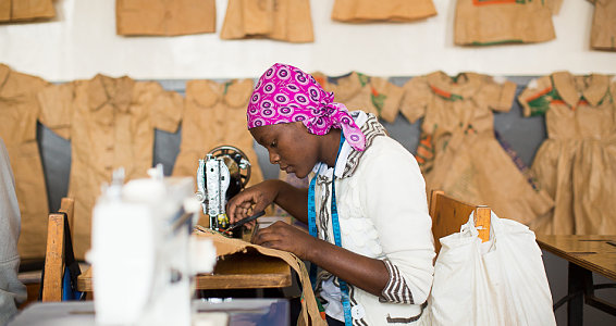 Crafting a better future: Kenyan young adults sew their way to success