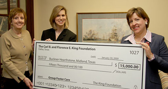 King Foundation Gives $15,000 to Foster Children
