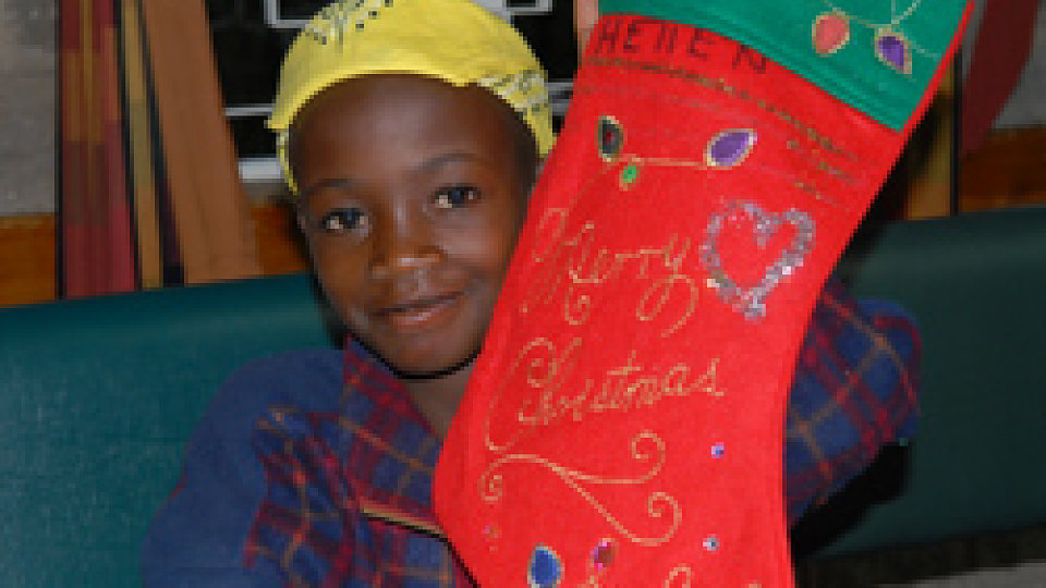 kenya christmas stocking