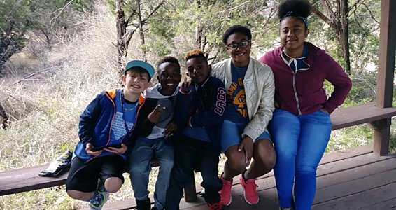 Family Pathways moms and children spend Spring Break at Camp Buckner