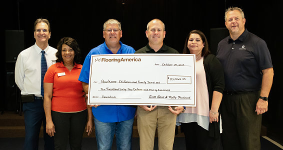 Buckner Family Hope Centers receive $10,000 donation from My Flooring America