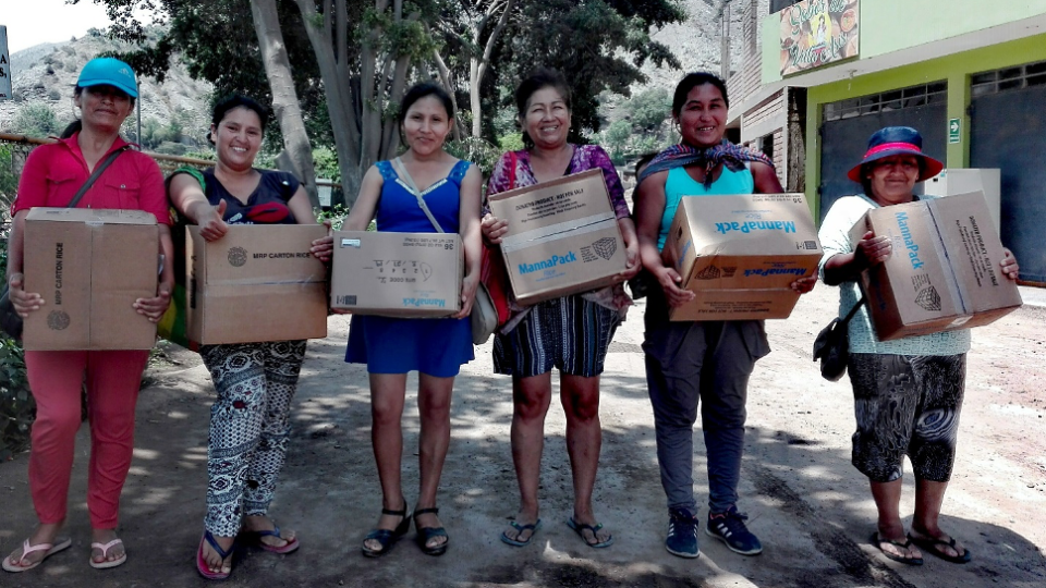 peru families receive food during coronavirus crisis from buckner international
