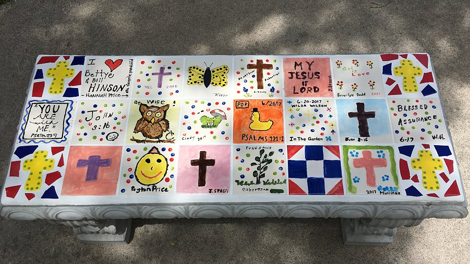 prayer garden bench 1