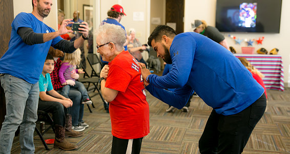 Friday photo: Residents hit it off with Texas Rangers