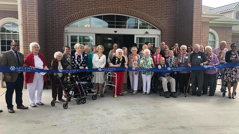 residents at parkway place cuts ribbon on renovations
