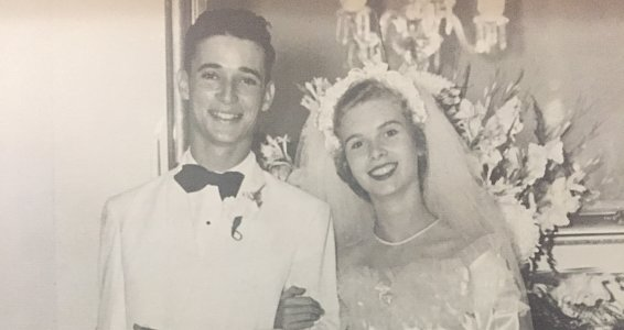 Love like a hurricane: Couple shares windy start to their 67-year marriage